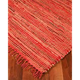 Concepts Jute Leather Rug, Hand Woven By Artisan Rug Maker, Reversible, 8' x 10'