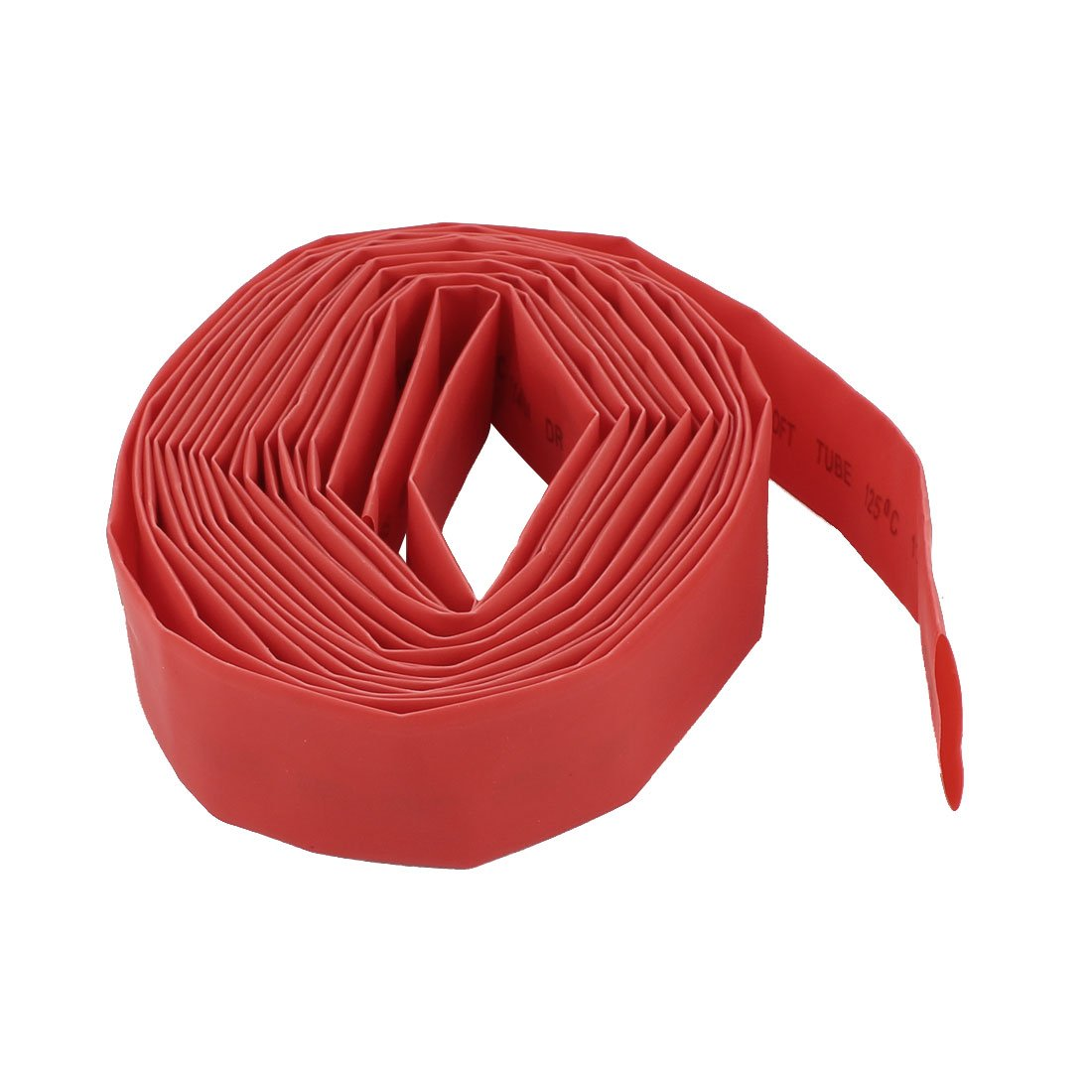 Sourcingmap 16mm Diameter Heat Shrinkable Tube Shrink Tubing Wire Wrap 5M 16Ft Red a14072300ux0667