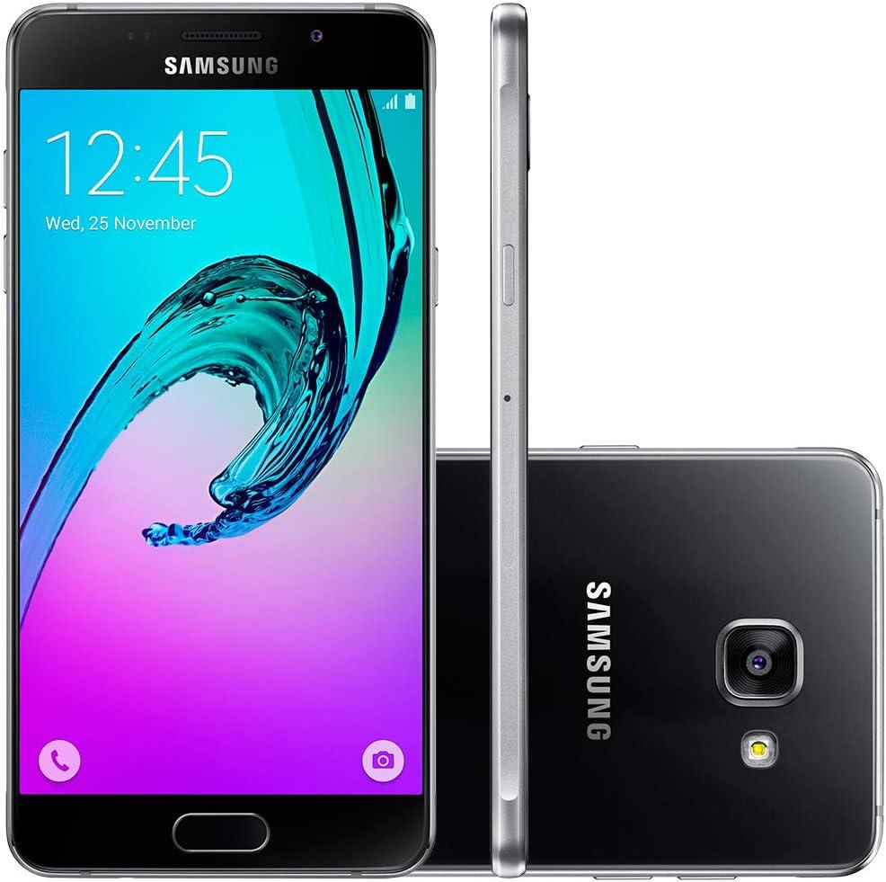 Samsung Galaxy A7 (2016) - Smartphone Libre Android (5,5'', 13 MP, 3 GB RAM, 16 GB) Versión extranjera - Negro