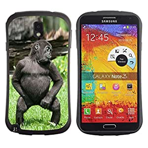 Exotic-Star Hybrid Heavy Duty Shockproof iFace Fundas Cover Cubre Case para Samsung Galaxy Note 3 III / N9000 / N9005 ( Mono del bebé divertido lindo del gorila )