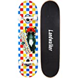 Landwalker Pro Cruiser Complete Girl Skateboard 31x8 Inch Skateboards cheap skateboard