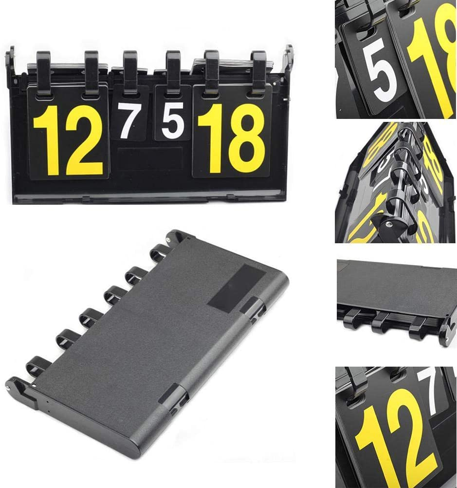 Digit High Function 4 Digits Scoring Plastic Score Board Table Tennis Scorer Flip Scoreboard for Sports Competition Ping Pong Volleyball Football End Multi Schildeng Basketball Scoreboard