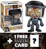 """Prison Guard Walker: ~4"""" Funko POP! x Walking Dead Vinyl Figure + 1 FREE Official Walking Dead Trading Card Bundle"""