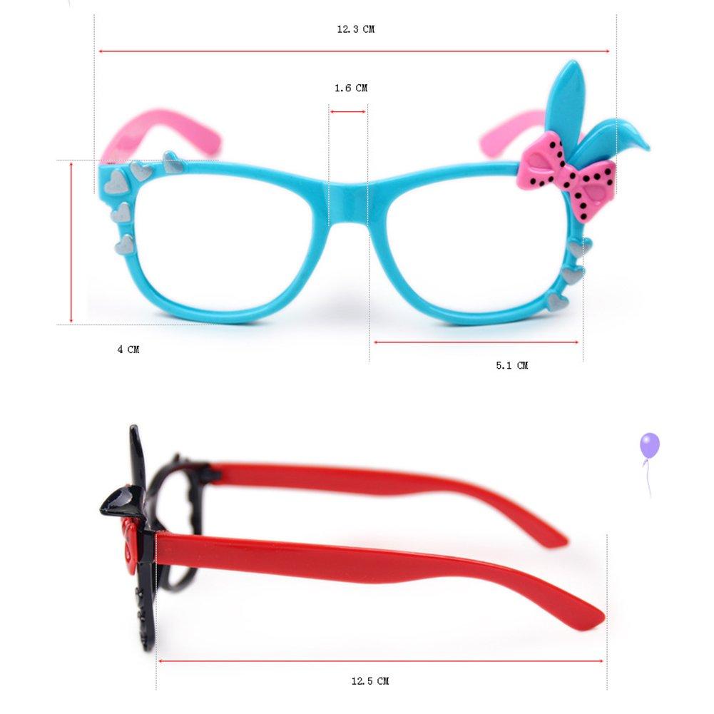 Mädchen Brillen - Bowknot-Herz Brille Kunststoff Brillenfassung ...
