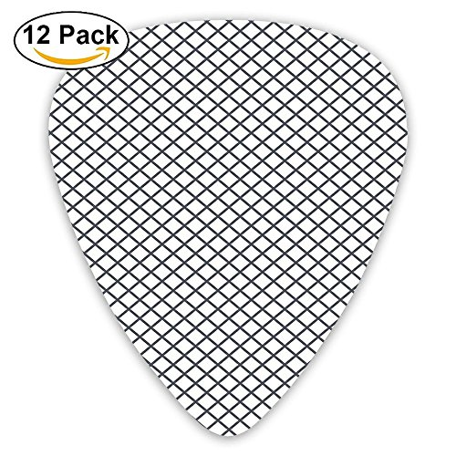 Newfood Ss Geometric Stripes Crossing Zig Zag Basket Braid Guitar Picks 12/Pack Set