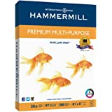 Hammermill Paper, Premium Multi-Purpose Poly Wrap, 20lb, 8.5 x 11, Letter, 97 Bright, 500 Sheets/1 Ream (105910) Made In The USA