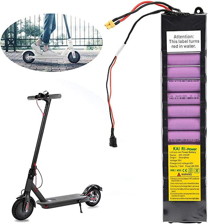 Keenso Battery Pack, 36V 7800mah Intellligent Scooter Battery Pack per Xiaomi M365 Scooter Elettrico con Batteria al Litio
