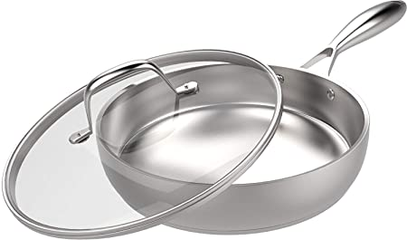 """Utopia Kitchen Stainless Steel Skillet – 12"""""""