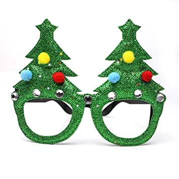 b75325db6d Ouken Novelty glitter Christmas decoration fancy Frame party accessories  glasses-Christmas tree