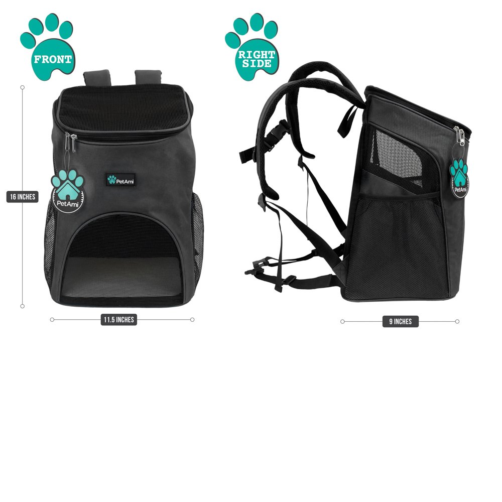 d138dd105d Amazon.com   PetAmi Premium Pet Carrier Backpack for Small Cats and Dogs
