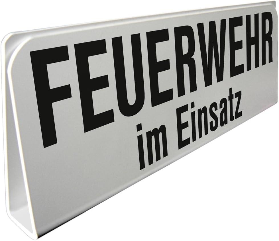 """Hinweisschild /""""Feuerwehr-Einsatz/""""  mit Saugnapf Feuerwehr Feuerwehrmann"""
