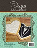 Bride & Groom Cookie Cutter & Stencil Set by Designer Stencils