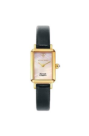 Viceroy Reloj Analogico para Mujer de Cuarzo con Correa en Cuero 461080-00: Amazon.es: Relojes