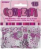 Unique Party - 55202 - Confettis - 18ème Anniversaire - Rose Glitz