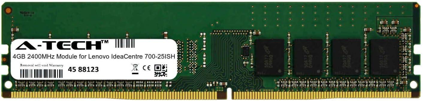 A-Tech 4GB Module for Lenovo IdeaCentre 700-25ISH Desktop & Workstation Motherboard Compatible DDR4 2400Mhz Memory Ram (ATMS276807A25815X1)