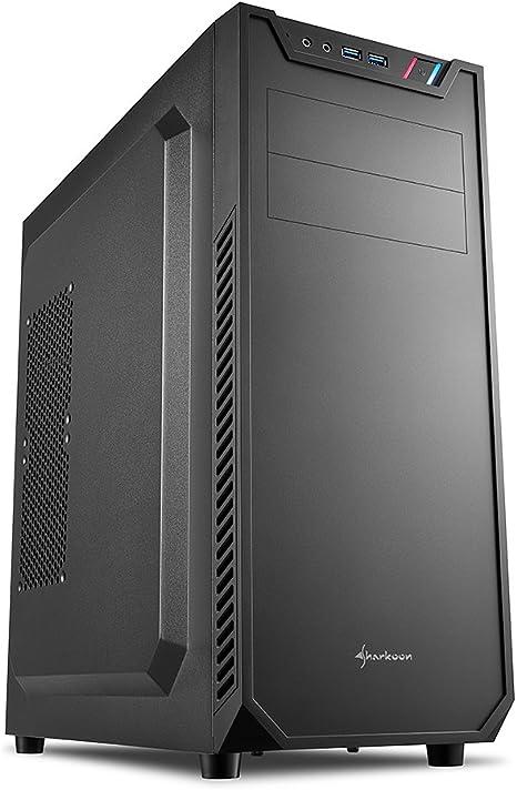 Sharkoon VS7 - Caja de Ordenador, PC Gaming, Semitorre ATX, Negro: Amazon.es: Informática