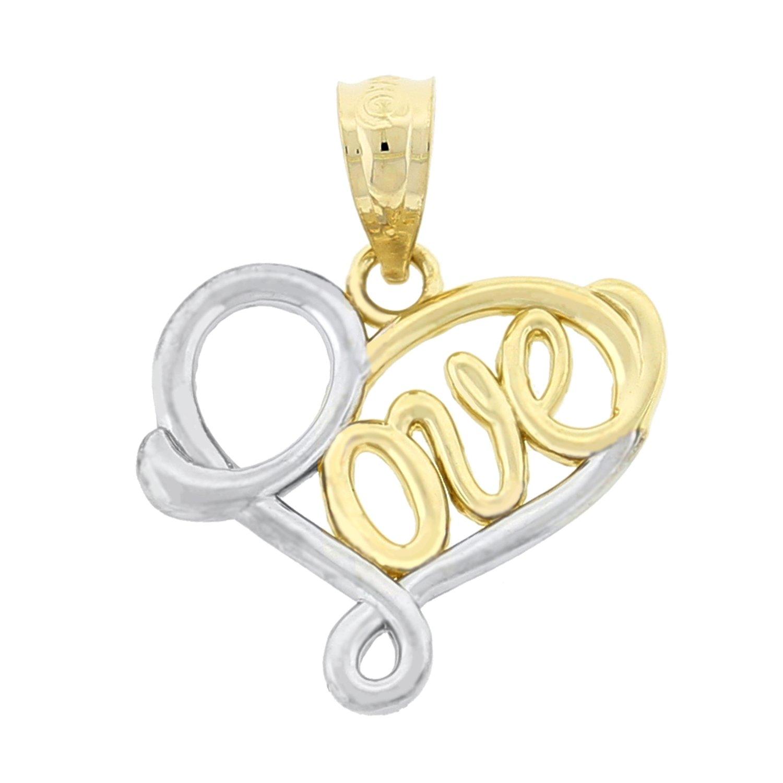 10k Gold Heart Shaped Love Charm