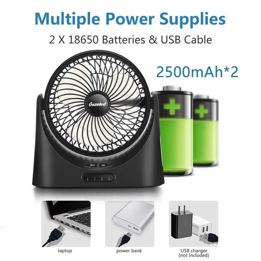 Battery Operated Fan Portable Usb Desk 7 Inch 4v Pcb Circuit Board Protection Croons 74v 18650 Rechargeable Fans With 5000mah Power Bank Function And Led Light