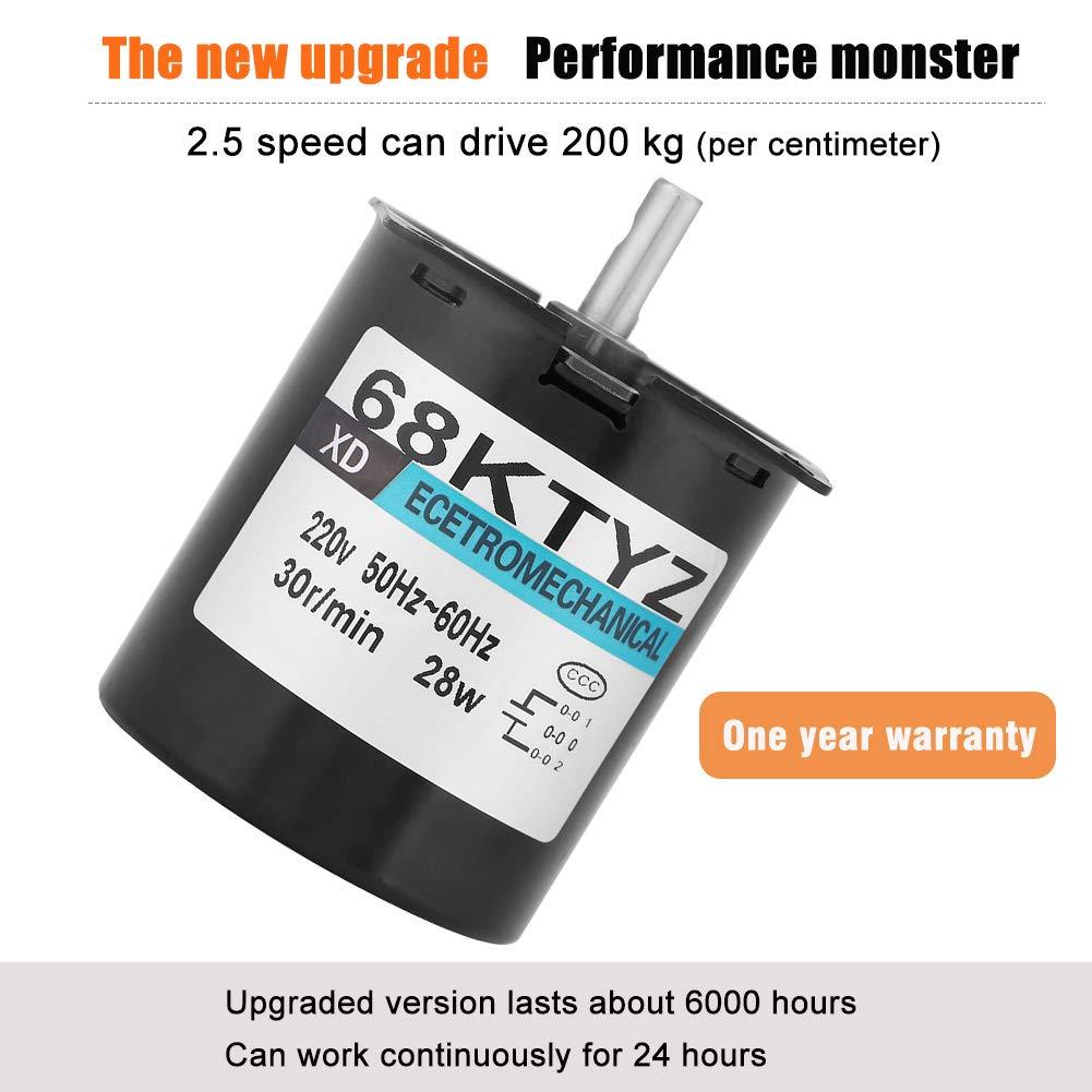 50KTYZ AC220V 6W 1-60r//min Synchronous Motor Permanent Magnet Low Speed YR New