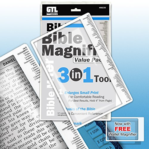 Bible Bookmark Assorted Distortion Free Magnifier