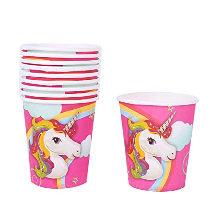 Bluelans Unicorn Theme Party Supplies Decorations Boys Girls Birthday Party Bunting Banner Paper Cups Plates Hats