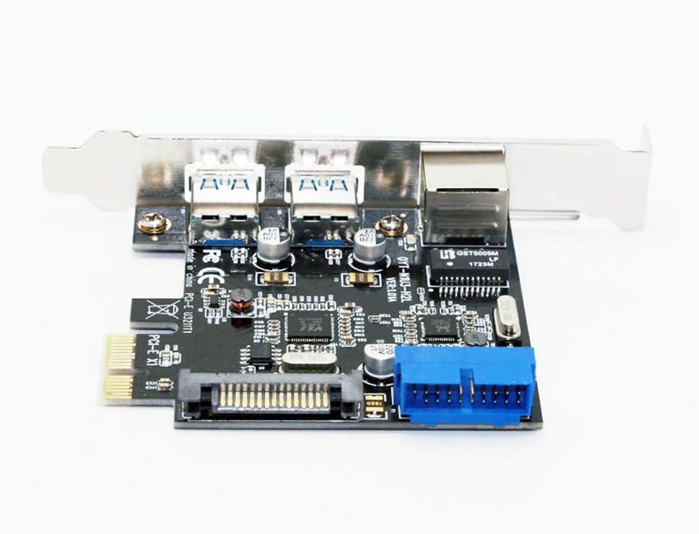 USB 3.0 Ethernet Adapter 3 Port USB 3.0 HUB 10//100//1000 Mbps PCI-E to RJ45 Gigabit Network LAN Adapter USB Ethernet Network Card