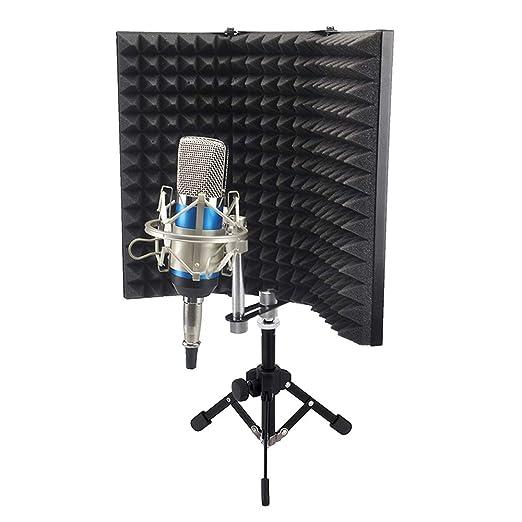 ZJY Escudo de Aislamiento de micrófono con trípode de Mesa, Filtro ...