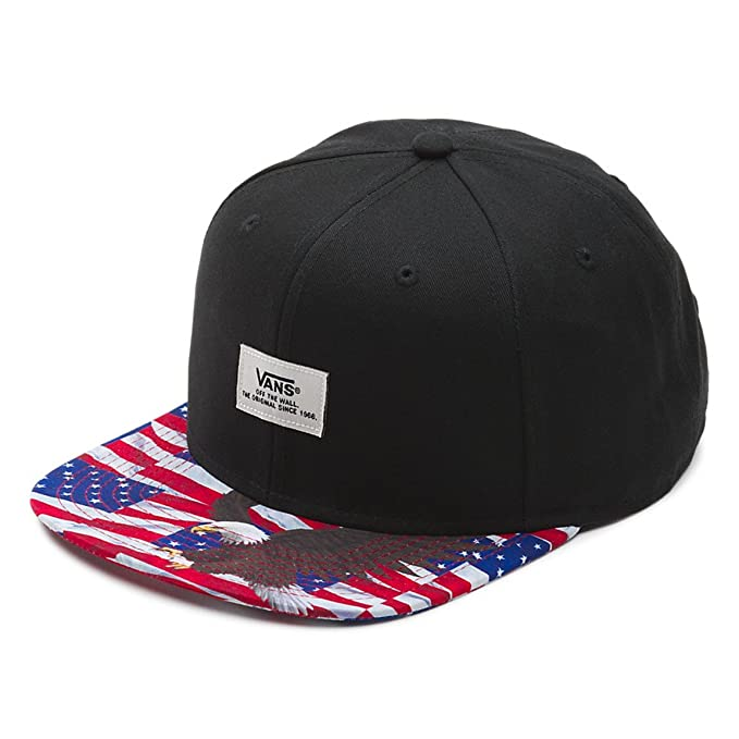 894f822e086 Vans Off The Wall Men s Walmer Snapback Hat Cap - Black American Eagle   Amazon.in  Clothing   Accessories