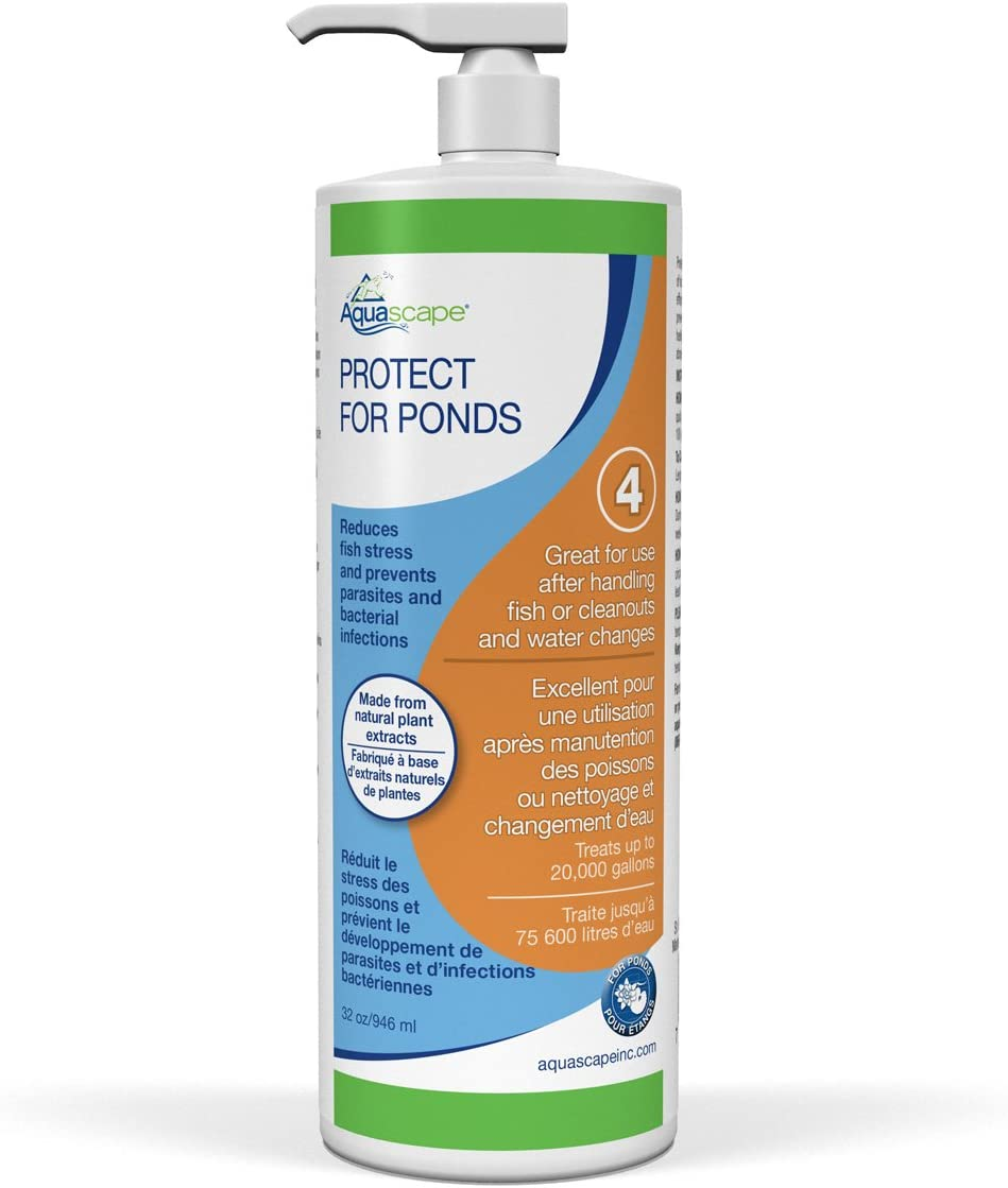 Aquascape PROTECT Water Treatment Koi and Fish Ponds, All-natural Formulation Effectively Reduces Fish Stress and Promotes Fish Health, 32 ounce / 946-ml   96071