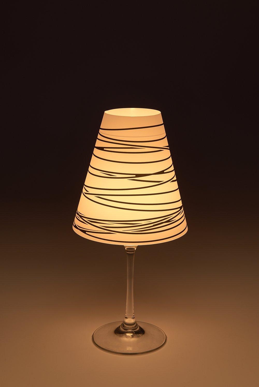 Cuadros Lifestyle Candle Light/Lampenschirm fü r Weinglä ser/Deko-Lampenschirm/Lampe / Teelicht/Lampshade / Tischdeko, Grö ß e:ca. 34x16 cm cuadros-lifestyle