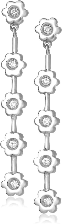 Miore M0542PP - Pendientes de de oro blanco (18k) con 10 diamantes