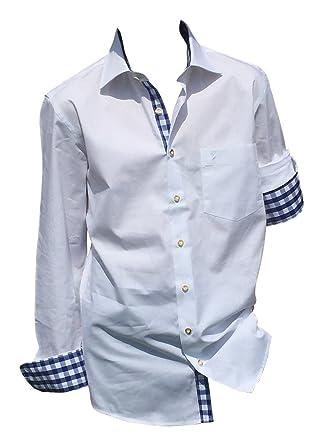 By Johanna Edles Trachtenhemden Trachten Hemd Herren-Hemden zur Lederhose  Trachten-Jeans Baumwolle Langarm Slim Fit. Perfekt für Oktoberfest Trachten  ... 12087ddeb2