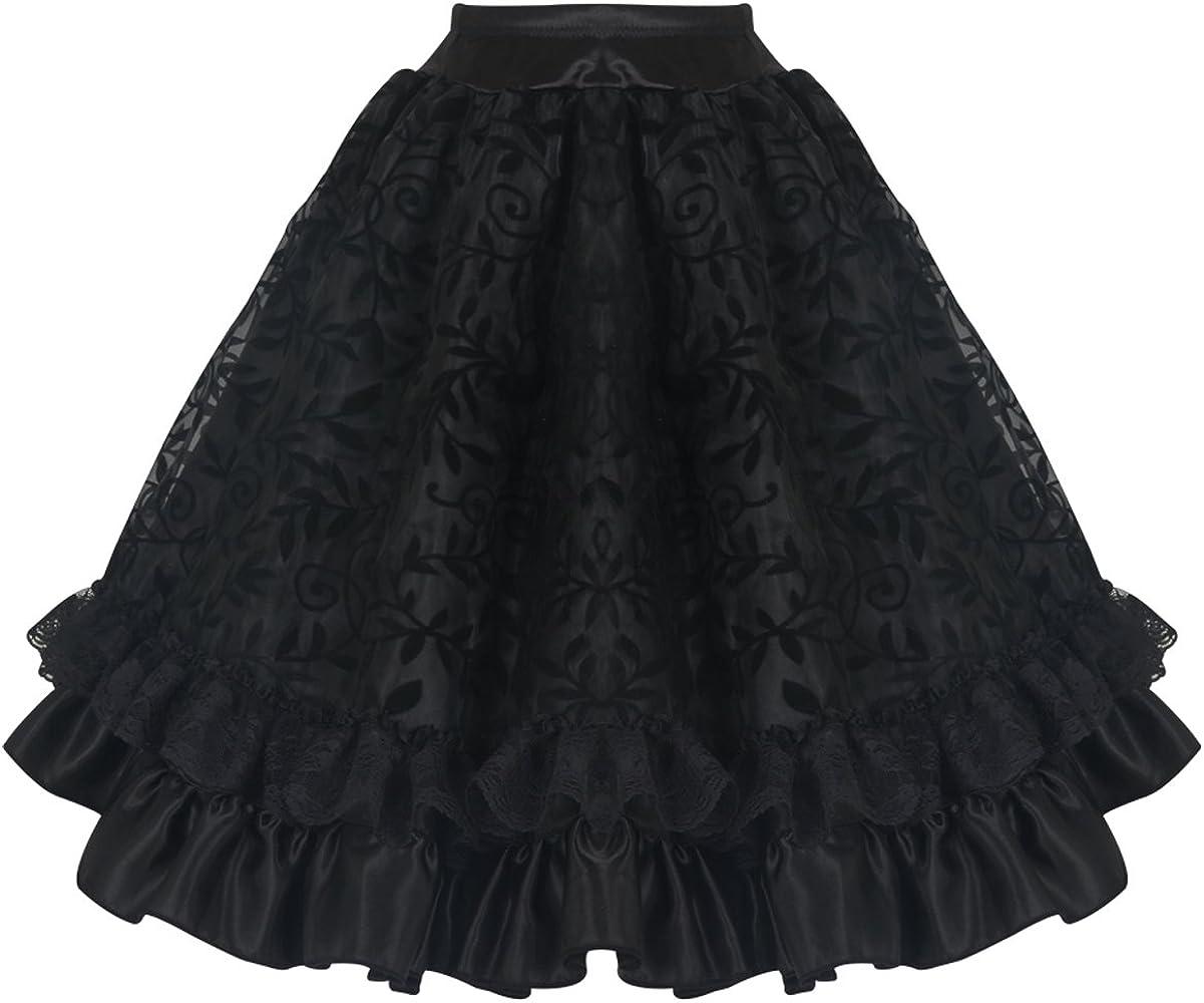 Burvogue - Falda - para mujer negro Negro 1 Large: Amazon.es: Ropa ...