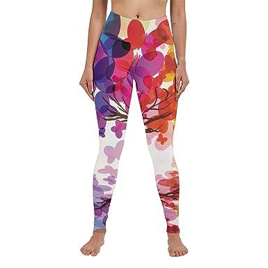21a025d72030bd Anneunique Custom Art Tree High Waisted Leggings Yoga Pants Capri Running  for Women Girls S