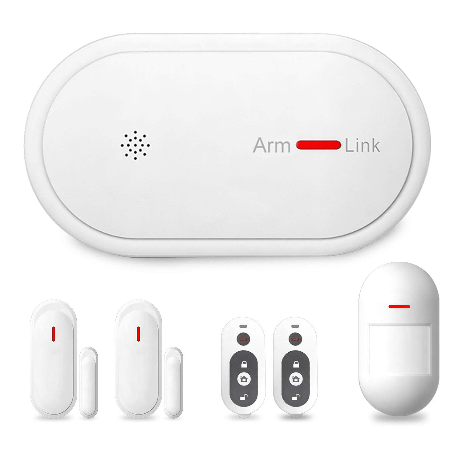Eslibai 2.4Ghz WiFi GSM Home Security Alarm System DIY Kit with APP Remote Control,APP Push Notification,0-300s Delay Arm, Auto Dial and No Monthly Fee, Expandable 32 Sensors for Home Office
