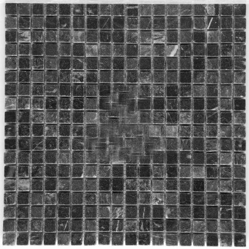 Black 5/8 X 5/8 Tumbled Marble Mosaic Tile - 0.625 X 0.625 Mosaic