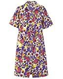National Garden Melodies House Coat, Purple Print, 2X - Misses, Womens