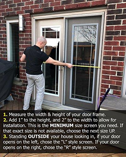 Sliding glass door screen
