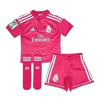 adidas Performance Real Madrid Away MINIKIT Jersey de Futbol Soccer Rosa per Ninos Climacool: Amazon.es: Deportes y aire libre