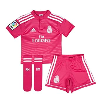 adidas Performance Real Madrid Away MINIKIT Jersey de Futbol Soccer Rosa  per Ninos Climacool db1105ba9921b