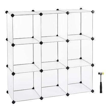 Charmant SONGMICS Cube Storage, DIY Plastic Cube Organizer Units, Modular Closet  Cabinet For Clothes,