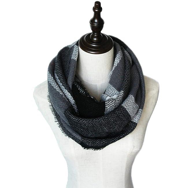 Cuadros cuadros infinito bufandas para mujeres suave cálido tartán ...
