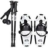 ALPS Light Weight Snowshoes for Kids, Boys & Girls & Pair Retractable Anti Shock snowshoes pole