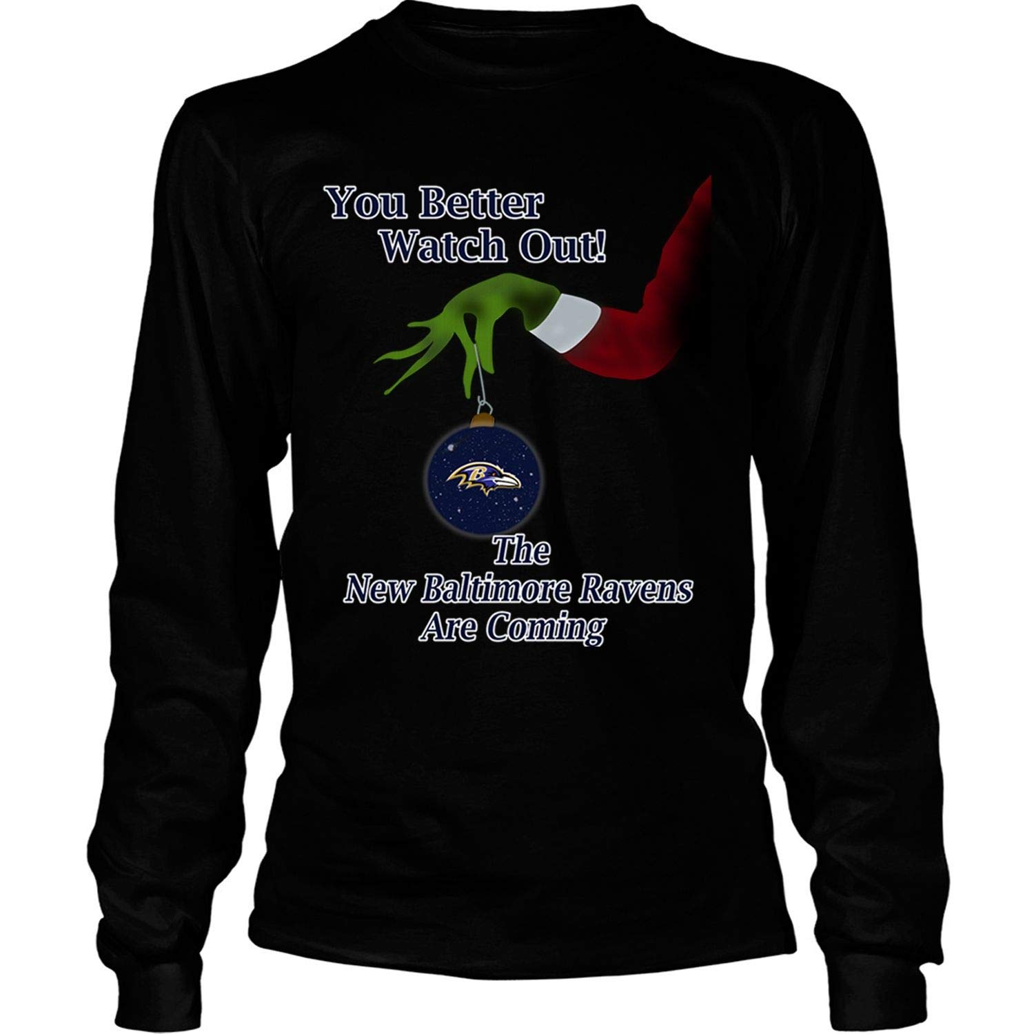 Discover Cool The Baltimore Ravens are Coming T Shirt Christmas T Shirt – Long Sleeve Tees