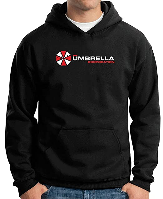 Cotton Island - Sudadera Hoodie TF0044 Inspired by Resident Evil The Umbrella Corporation, Talla S