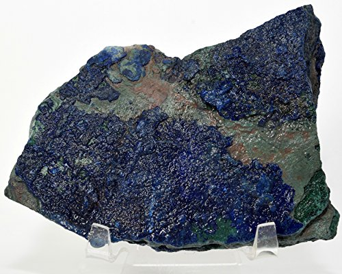 275g Rich Blue Azurite w/Malachite Rough Natural Crystal Cab Sparkling Mineral Gemstone Specimen - Africa ()