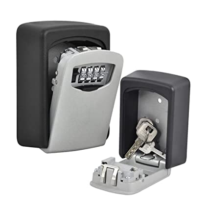 Amazon.com : TTRwin Key Lock Box-Key Safe Box Wall Mounted 4 Digit Weather Resistant Key Storage Box for Indoors or Outdoors Holds up to 5 Keys Secure Box ...