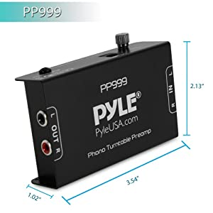 Pyle PP999 Phono Turntable Pre-Amp