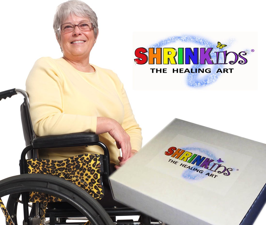 Medical Device Decorating Cover PARTY Kit~ Fun Fashionable Shrink Wrap Decorations for Walkers Wheelchairs Canes Crutches ~ TEMPORARY Uses No Adhesive by Shrinkins The Healing Art - ADULT