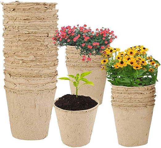 JZTRADING Semilleros De Germinacion Semilleros Biodegradables Planta Alta Olla Macetas Grandes para Plantas al Aire Libre Jardín de macetas al Aire Libre: Amazon.es: Hogar